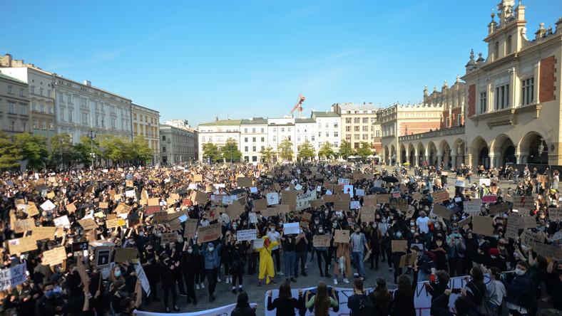 Protest w Krakowie