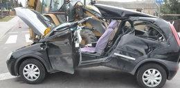 Makabryczny wypadek w Bystrzycy. Kobieta najechała na stalową linę