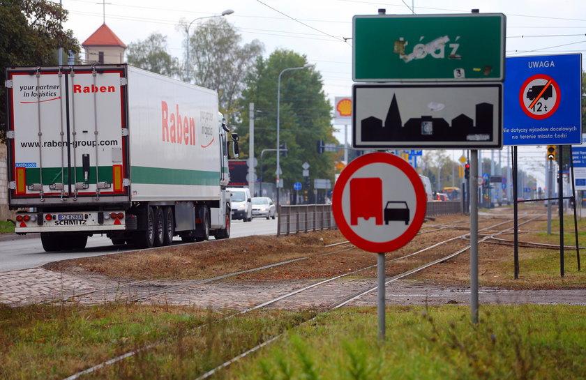 Zakaz wjazdu tirów do Łodzi