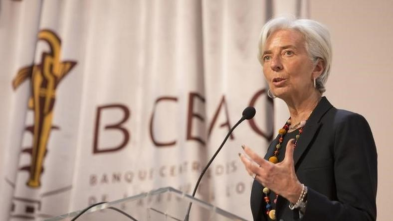 International Monetary Fund Managing Director Christine Lagarde speaks at the Banque Centrale des Etats de Afrique in Dakar  January 30, 2015.   REUTERS/Stephen Jaffe/IMF Staff Photograph Handout via Reuters