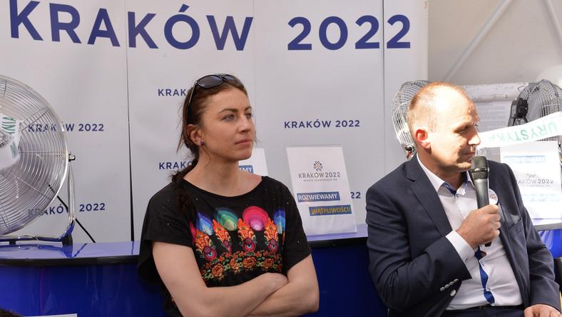 Justyna Kowalczyk spotkała się z mieszkańcami Krakowa.