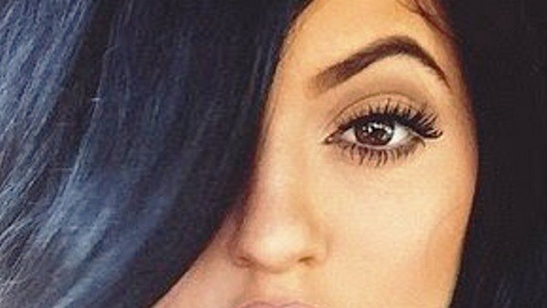 A close up shot of Kylie Jenner