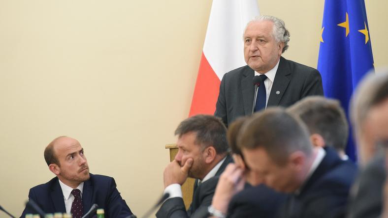 Wysłuchanie publiczne sędziów i eksertów ws. reformy Sądu Najwyższego, na fotografii Borys Budka i Andrzej Rzepliński