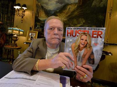 """Larry Flynt jest założycielem i wydawcą pornograficznego magazynu """"Hustler"""""""
