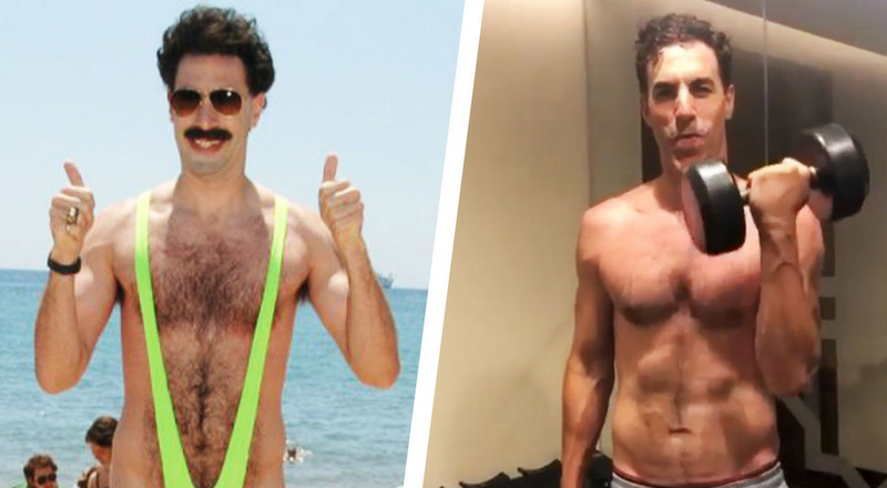 Sacha Baron Cohen Got Toned as Hell for His Role in The Spy