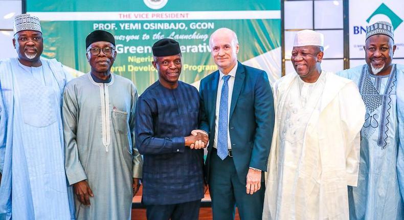 "Vice President Yemi Osinbajo at the launch of the ""The Green Imperative, in Abuja, January 17, 2018 (Facebook/Aso Rock Villa)."