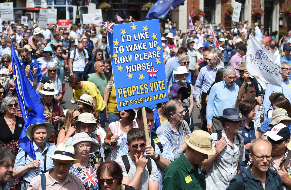 epa06833302 - BRITAIN BREXIT PEOPLE'S MARCH DEMONSTRATION (People's March Against Brexit)
