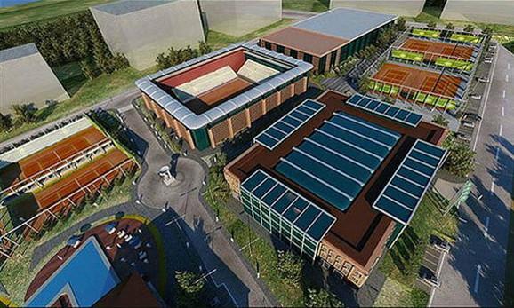 Maketa teniskog centra kojeg su Đokovići planirali da izgrade u Kragujevcu