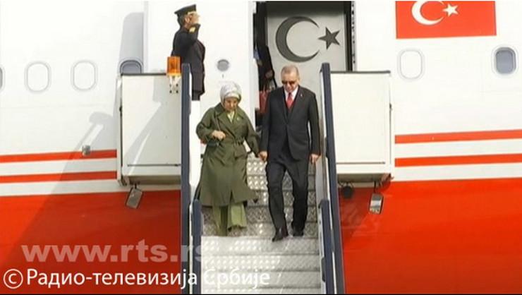 Erdogan, Poseta, Beograd, Aerodrom