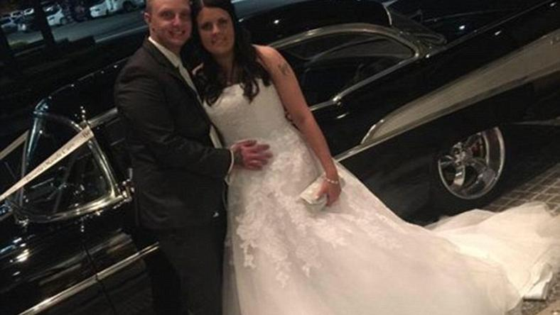 Newlyweds Tenille and Adam Bradley were celebrating their wedding when a man got into an argument with some of the guests and tried to run some of them over - including the bride