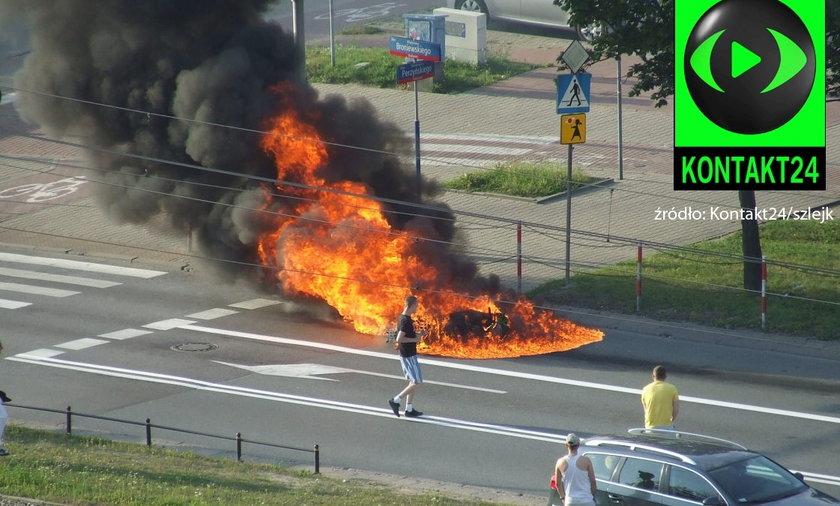 wypadek motocyklisty w Warszawie