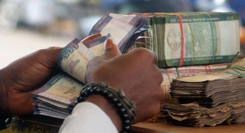 Liberian currency - pictured used to illustrate the story (BBC)