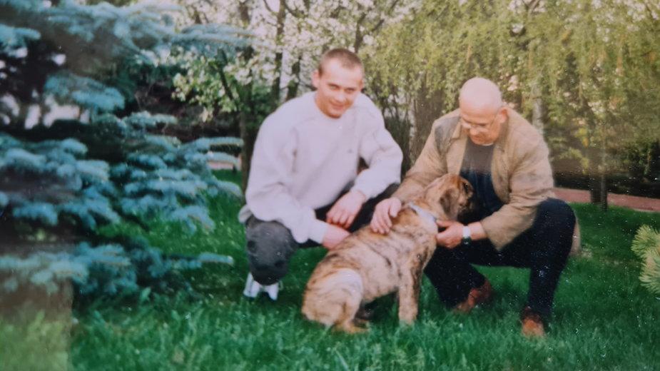 Zbigniew Szubert z ojcem, przed pobytem w więzieniu, fot. archiwum prywatne