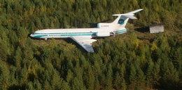 Tupolew nie trafił w pas i się nie rozbił. FOTO