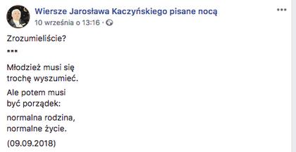 To On Słowa Kaczyńskiego Zamienia W Prawdziwą Poezję