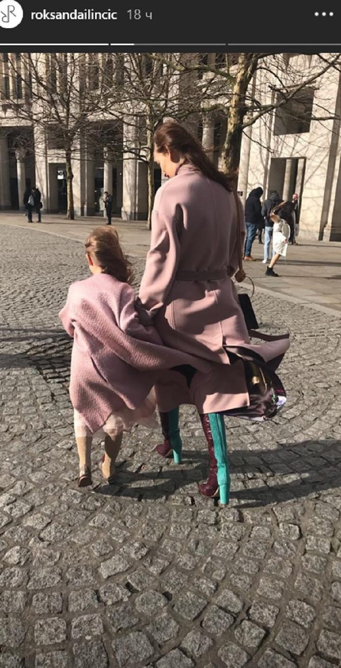 Roksanda Ilinčić sa ćerkom