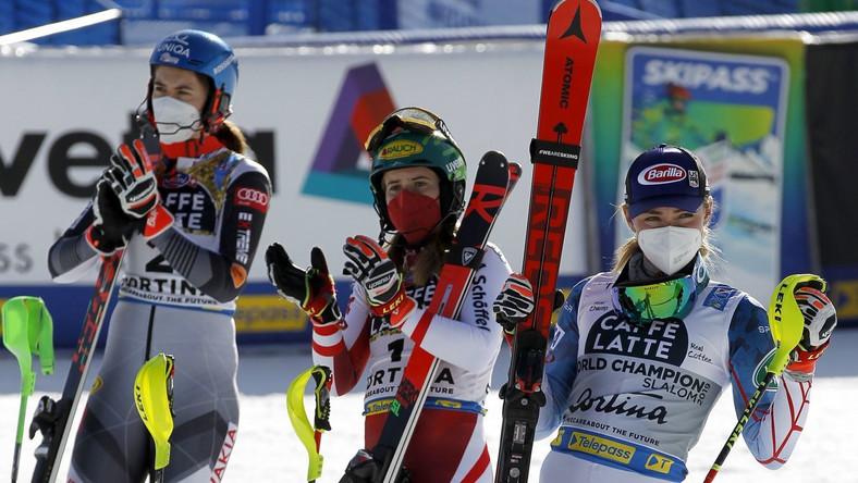 Vlhova, Liensberger i Shiffrin - medalistki slalomu MŚ w Cortina d'Ampezzo
