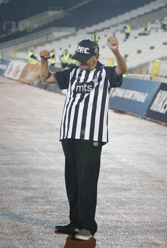 Goran Pantelić na stadionu Partizana