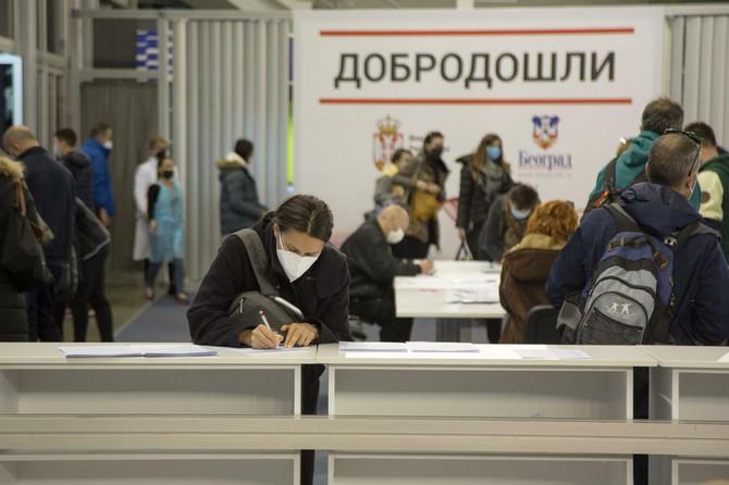 Vakcinacija protiv kovida na Beogradskom sajmu