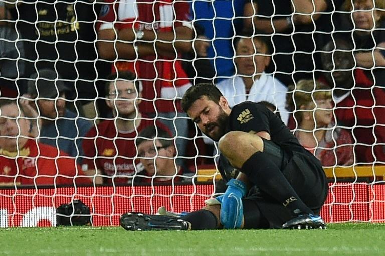 Liverpool goalkeeper Alisson Becker is set to be out for several weeks with a calf injury