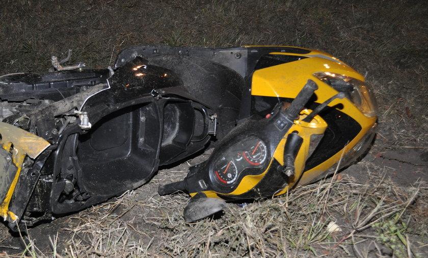 Śmiertelne potrącenie motorowerzysty