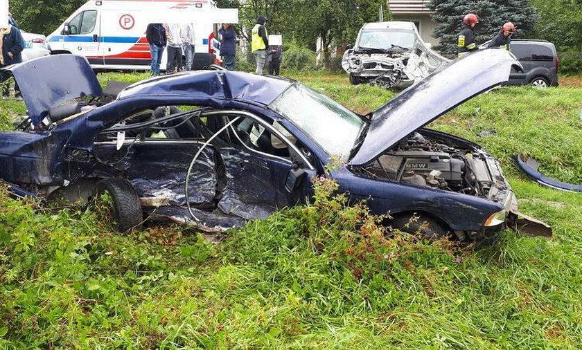 Wypadek w Wapowcach