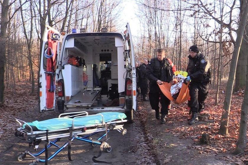 Uratowany desperat z Katowic