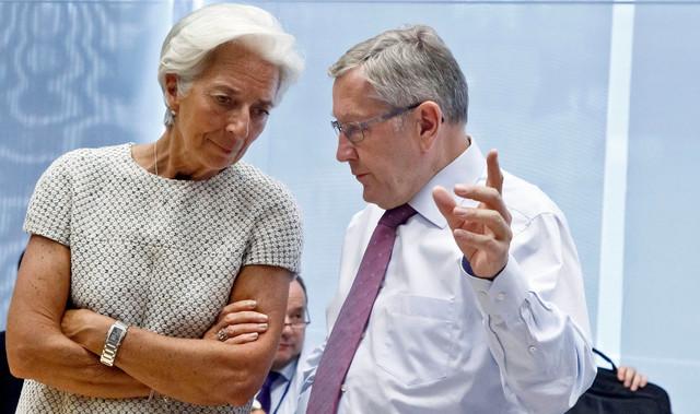 Kristin Lagard, direktorka MMF i Klaus Regling, predsednik ESM