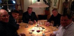 Tak Kwaśniewski pije w Davos