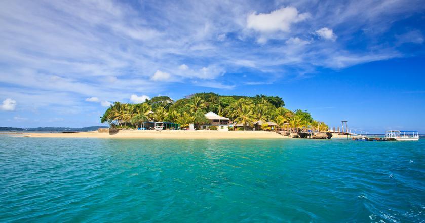 Wyspy obejmujące państwo Vanuatu leżą na Południowym Pacyfiku - na zdjęciu jedna z nich