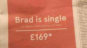 Linie lotnicze zakpiły z Brada Pitta