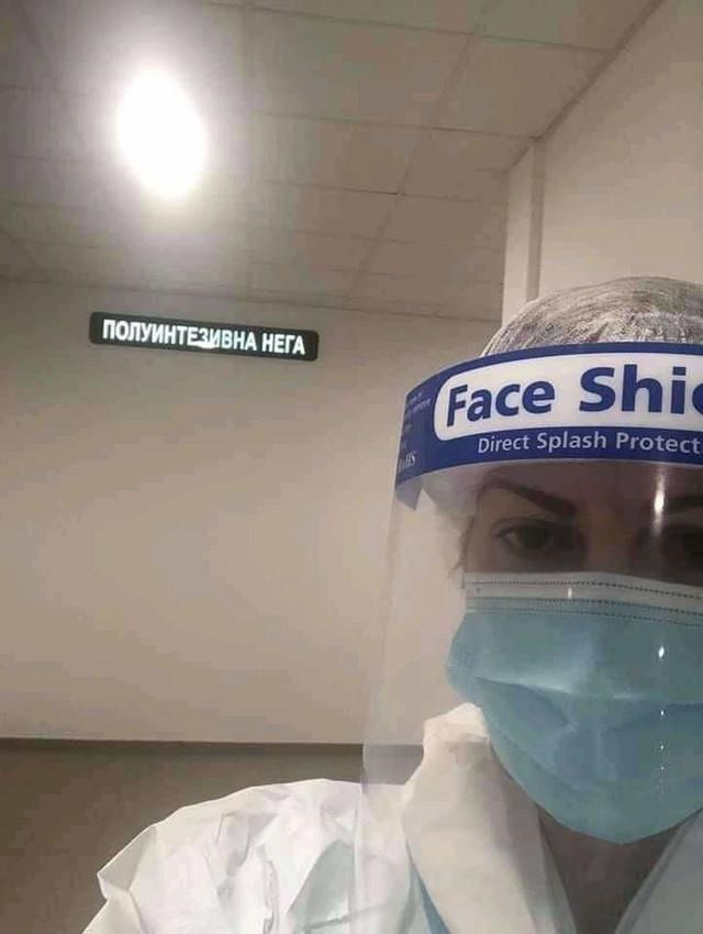 """Antimaskerka"" Dr Jovana Stojković nosi masku sa sve vizirom"