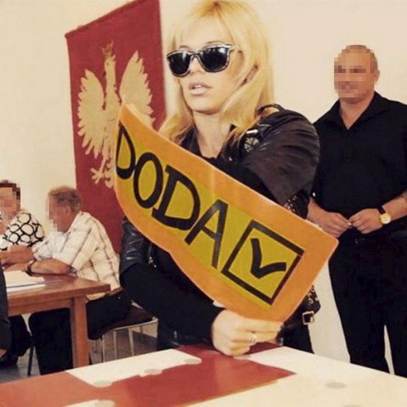 Doda głosuje w wyborach