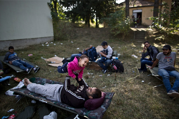 Migranti kod mesta Beli manastir