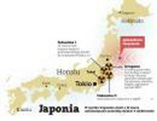Japonia. W wyniku trzęsienia ziemi z 11 marca automatycznie przestały działać 4 elektrownie.