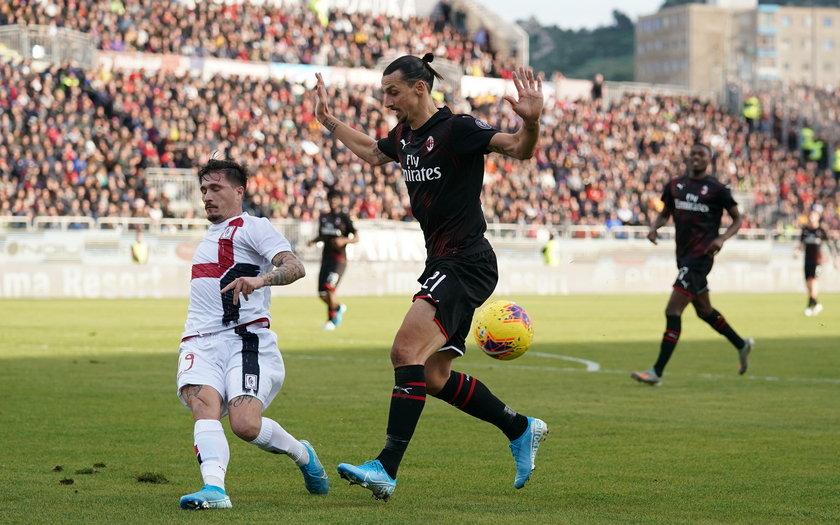 Ibrahimović strzelił gola na 2:0, a Rossoneri niespodziewanie wygrali na Sardynii.