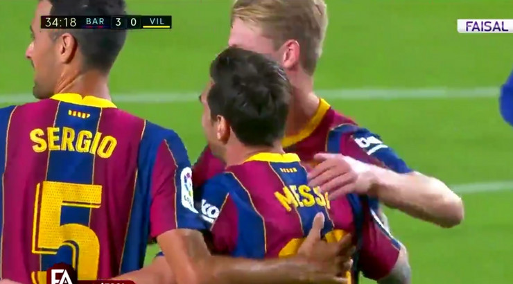 Proslava gola Lionela Mesija