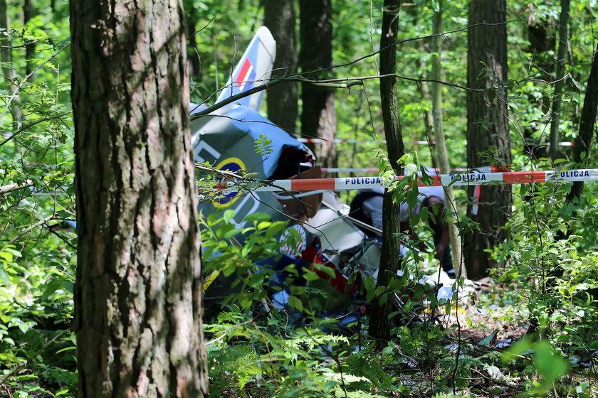 Katastrofa małego samolotu pod Kłobuckiemv