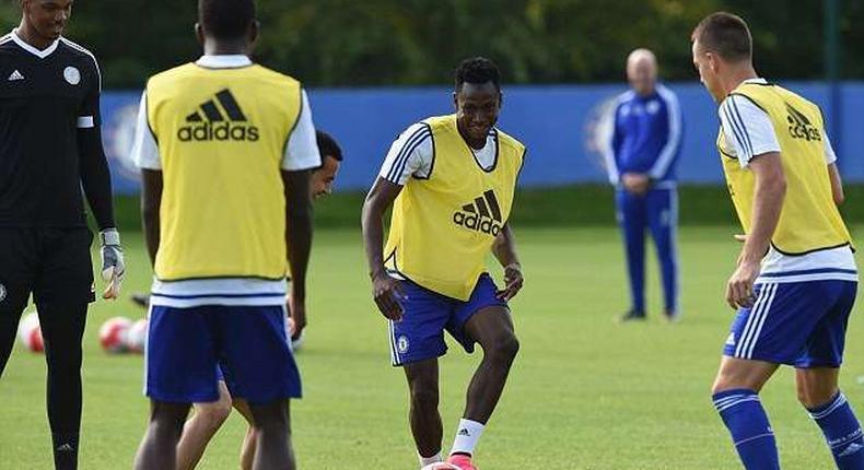Rahman training at Chelsea