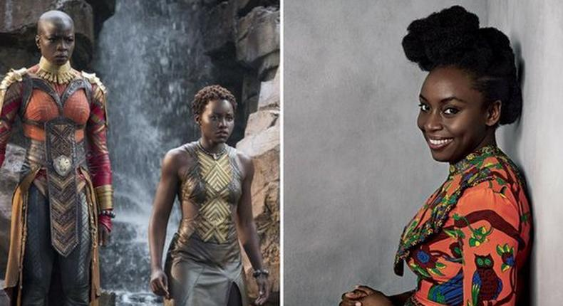 Lupita Nyong'o and fellow 'Black Panther' cast mate Danai Gurira are turning Chimamanda Adichie's 'Americanah' into a miniseries (twitter/freeblackgirl)
