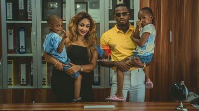Diamond Platnumz treats Zari & his kids to tour of his Mega Mansion (Video)