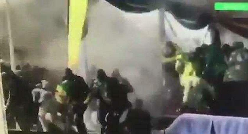 Eksplozja na stadionie podczas wizyty prezydenta