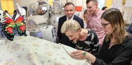 Andrzej Duda z żoną odwiedzili sześcioraczki w Krakowie