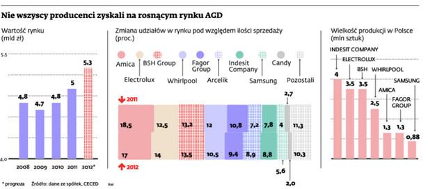 Nie wszyscy producenci zyskali na rosnącym rynku AGD