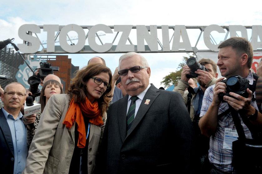 Aleksandra Dulkiewicz z Lechem Wałęsą