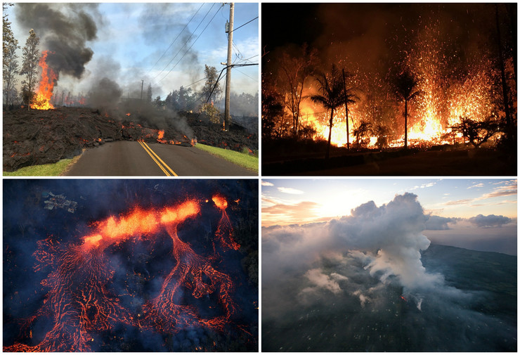 Havaji vulkan kolaž