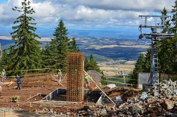 Krajnja stanica gondole: Prvi stub spreman za betoniranje