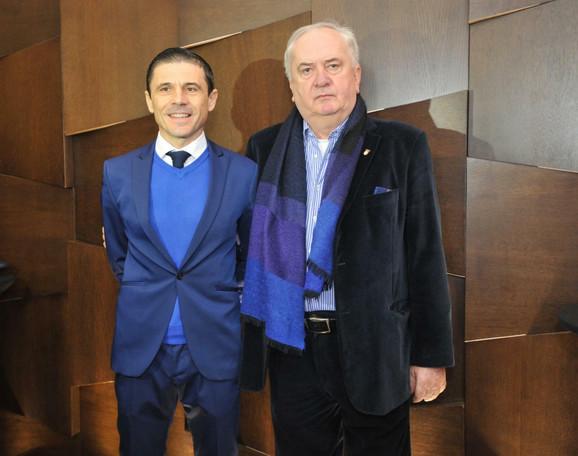 Milorad Mažić i predsednik Olimpijskog komiteta Srbije, Božidar Maljković