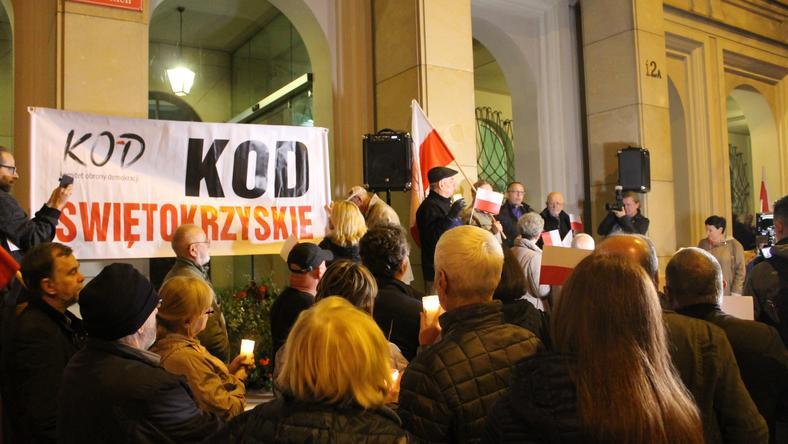 Protest KOD Kielce