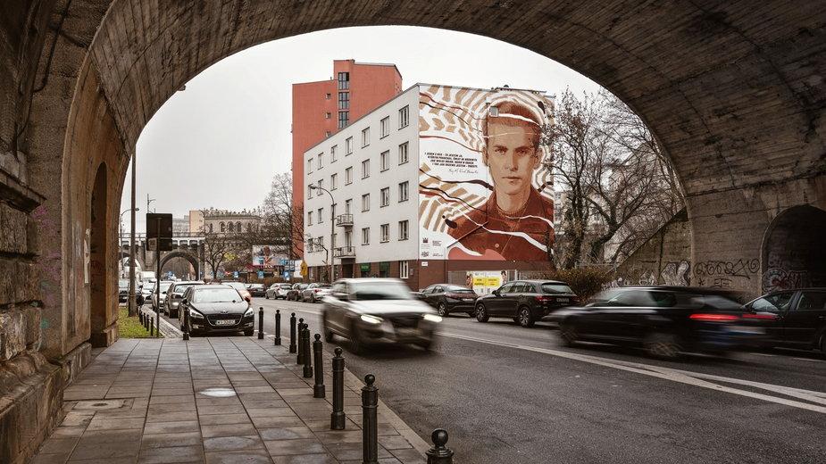 Mural Krzysztofa Kamila Baczyńskiego w Warszawie [ZDJĘCIA]